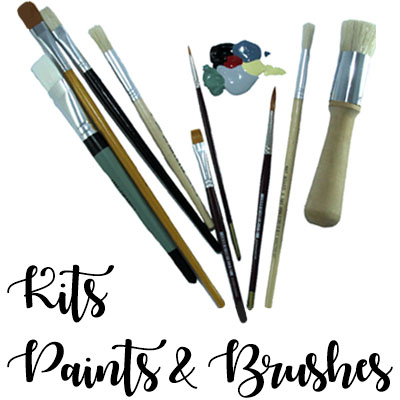 Kits, Paints, Brushes etc